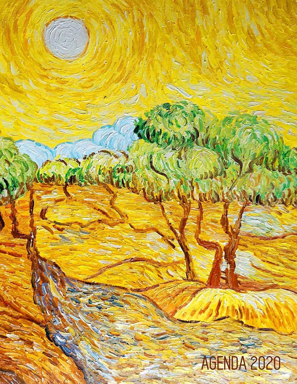 Vincent Van Gogh Planificateur Quotidien 2020 Oliviers Avec Ciel Jaune Et Soleil Agenda Avec Espaces Pour Notes Pour L Organisation A La Maison Peintre Neerlandais French Edition Carnets De