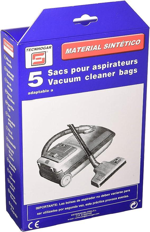 Tecnhogar 915510 Bolsa aspirador, sintético, Blanco: Amazon.es: Hogar
