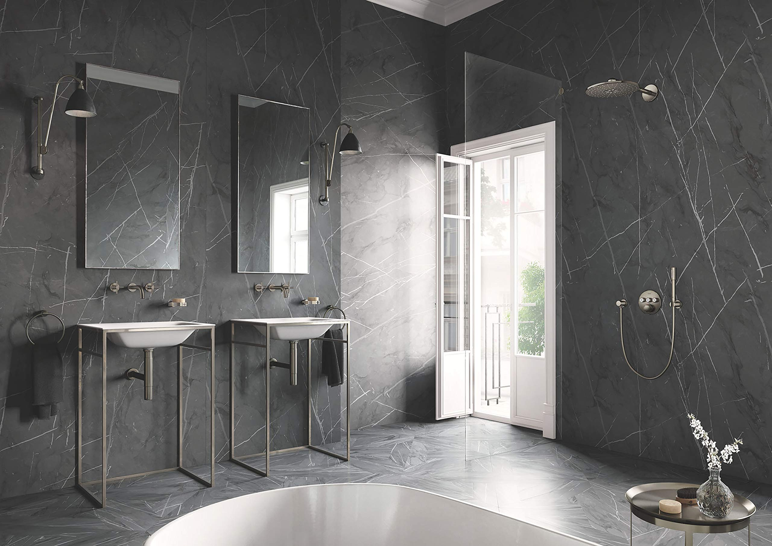 Grohe 18026EN3 Atrio Bathroom Faucet Cross Handles, Brushed Nickel by GROHE (Image #8)