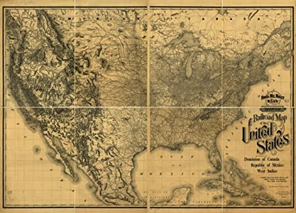 Map Of The Continental United States on