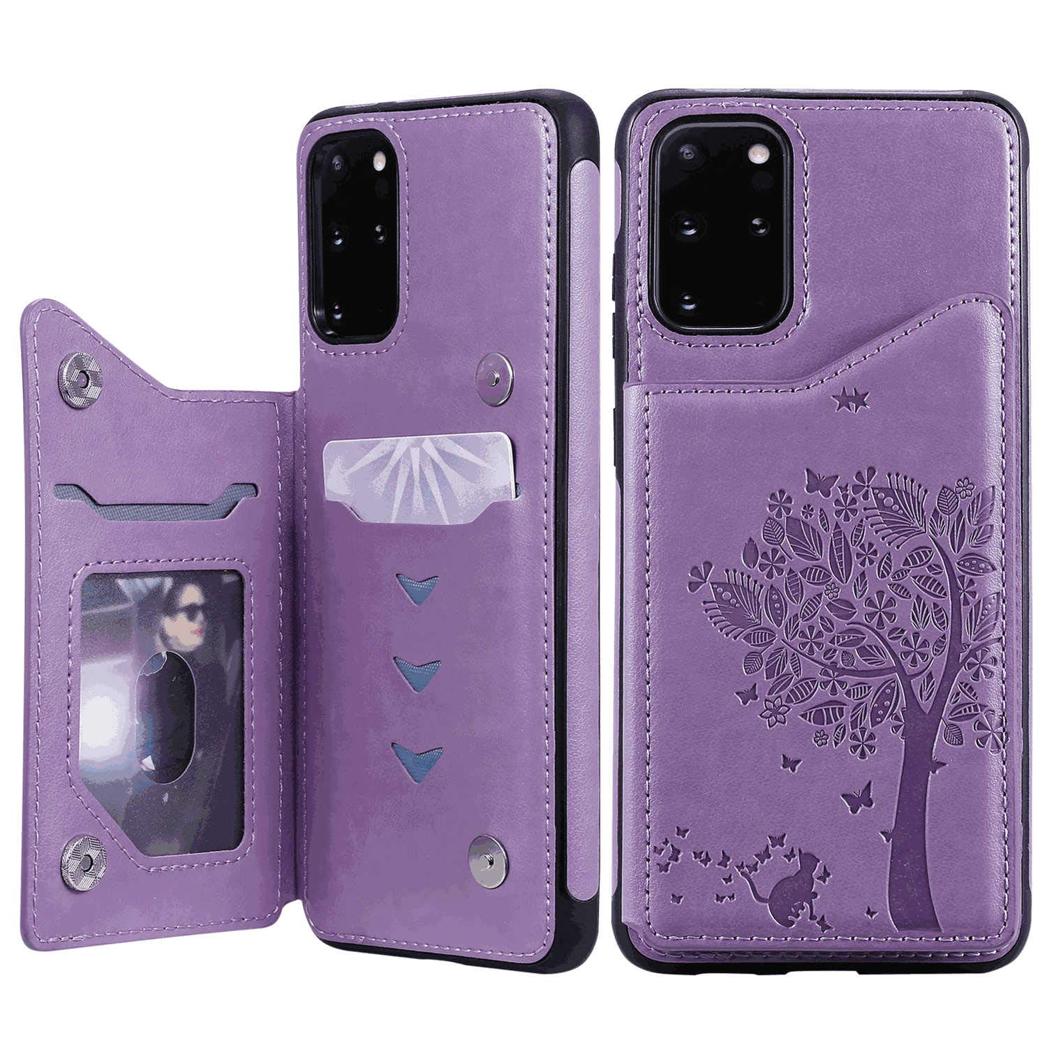 Flip Case for Samsung Galaxy S20 Plus S20+ Rose Gold PU Leather Wallet Cover Compatible with Samsung Galaxy S20 Plus S20+