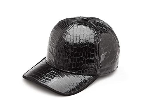 Image Unavailable. Image not available for. Color  ermoint Crocodile  Leather Baseball Cap 401c7985249
