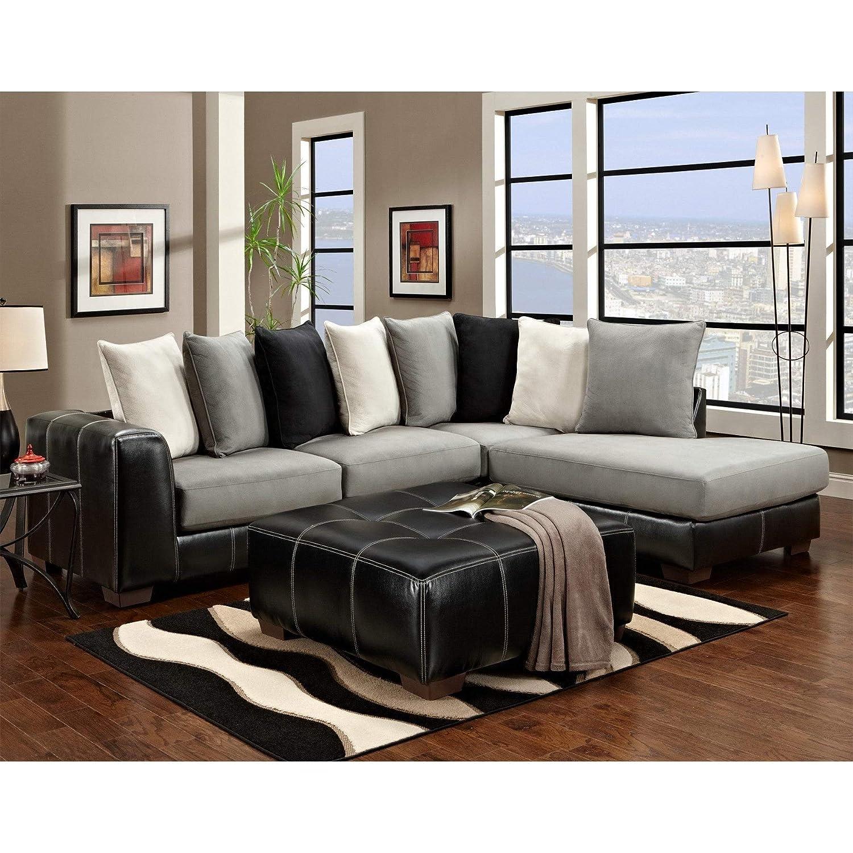 Cool Amazon Com Sofa Trendz Constance 2 Pc Sectional And Ottoman Machost Co Dining Chair Design Ideas Machostcouk