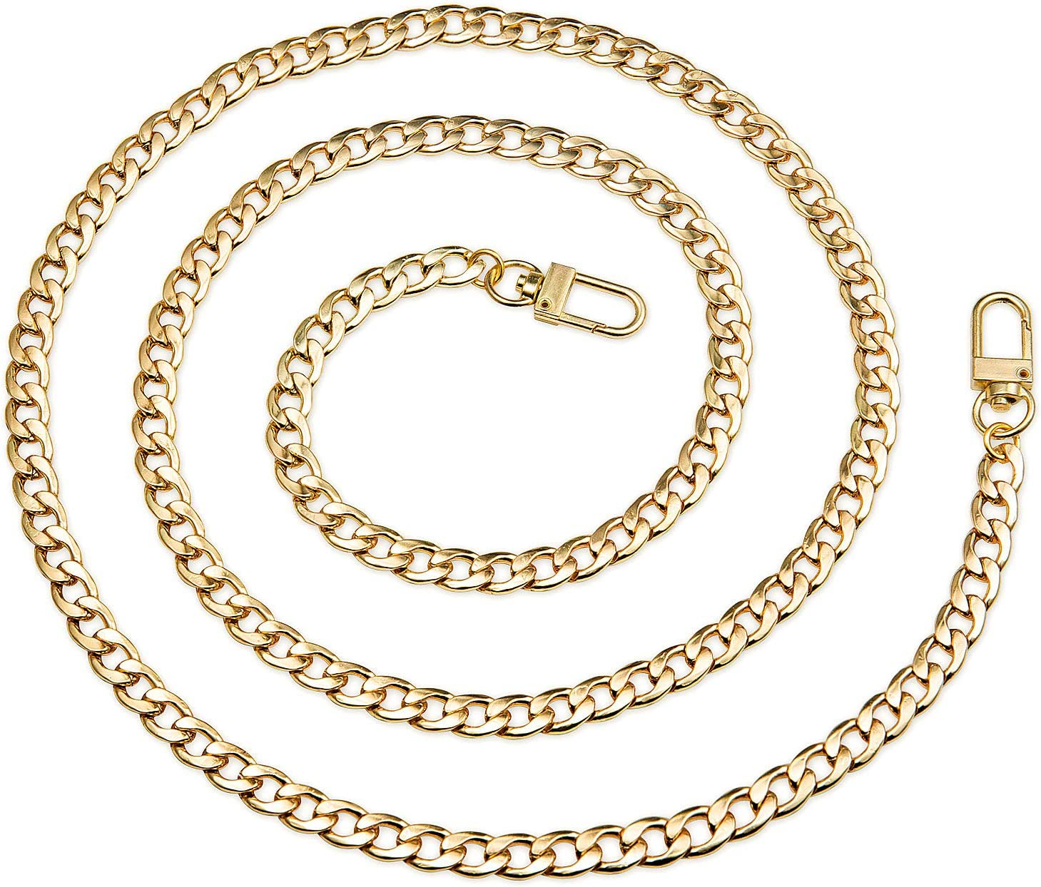 SimpleLif DIY Handbag Chain Purse Bag Strap Cross Body Replacement Straps Metal Chain with Buckles