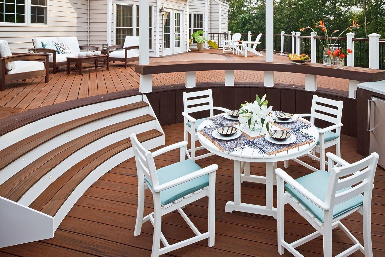 outdoor rockport piece trex prevnext club living furniture set settee
