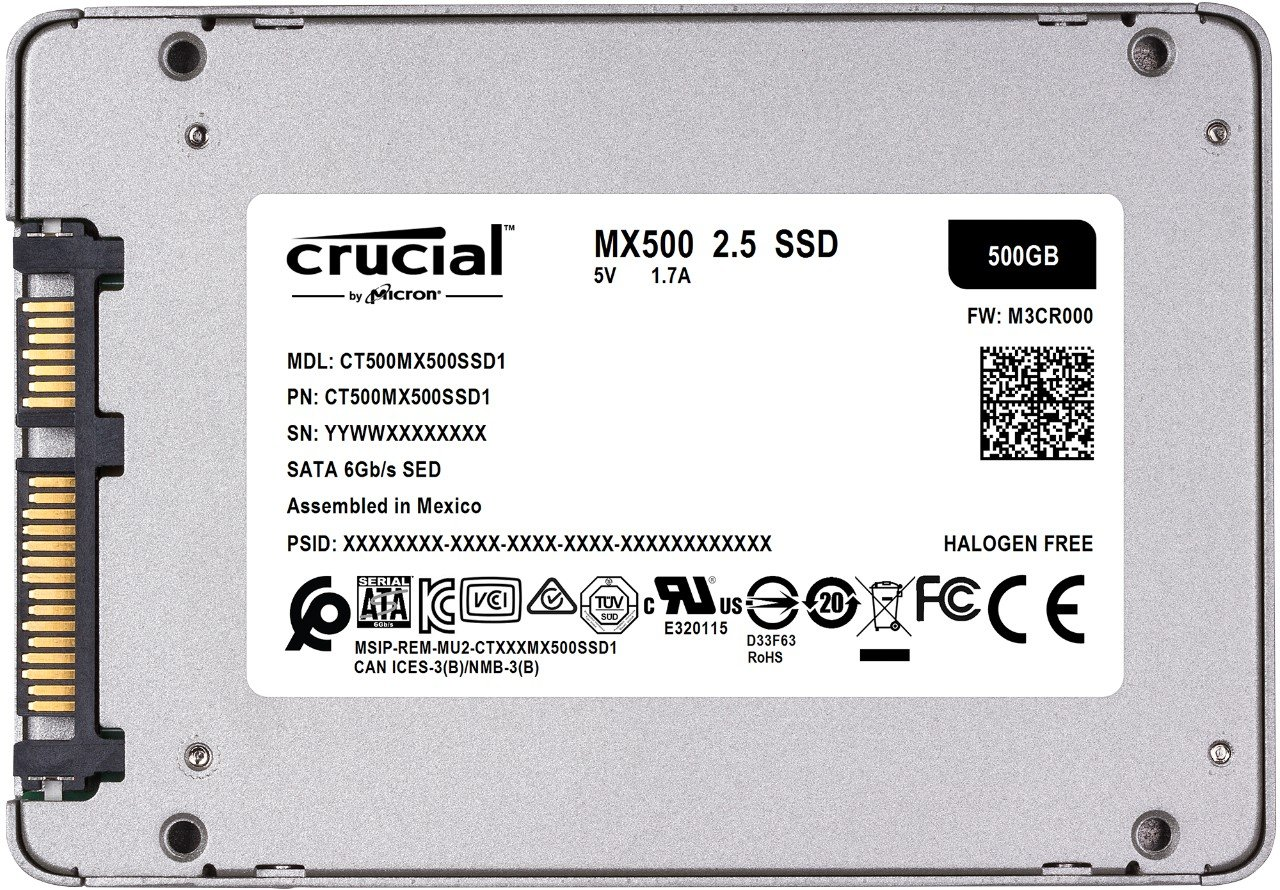 Amazon Com Crucial Mx500 500gb 3d Nand Sata 2 5 Inch Internal Ssd