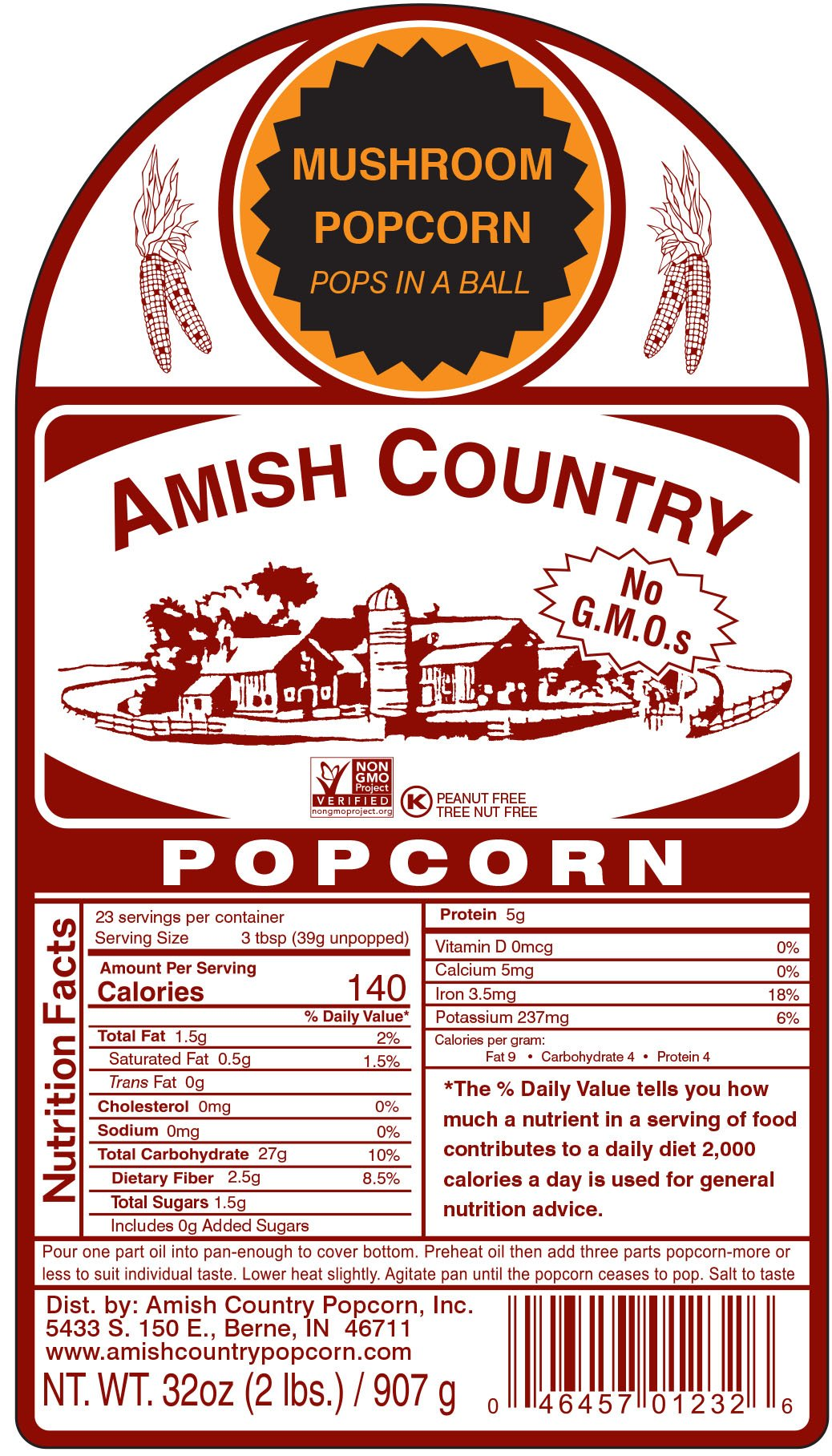 Amish Country Popcorn - Mushroom Popcorn (6 Pound Bag) - Old Fashioned, Non GMO, Gluten Free, Microwaveable, Stovetop and Air Popper Friendly - with Recipe Guide by Amish Country Popcorn (Image #7)