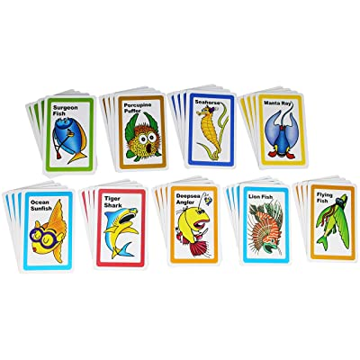 Go Fish Card Game for Kids - Classic Vintage Playing Cards Game Set: Toys & Games