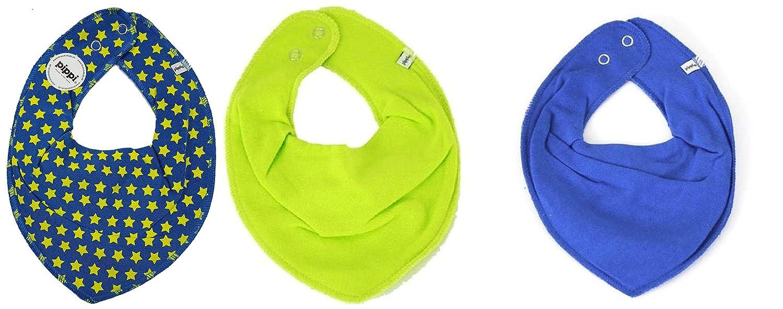 Pippi, set di 3 fazzoletti da collo per neonato triangolari con stelline 2332558