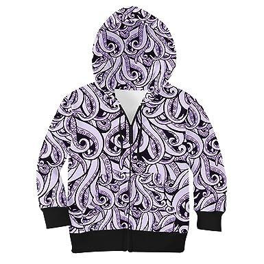dfe1f3db76a743 Amazon.com: Ursula Disney Villains Inspired Kids Zip Up Hoodie ...