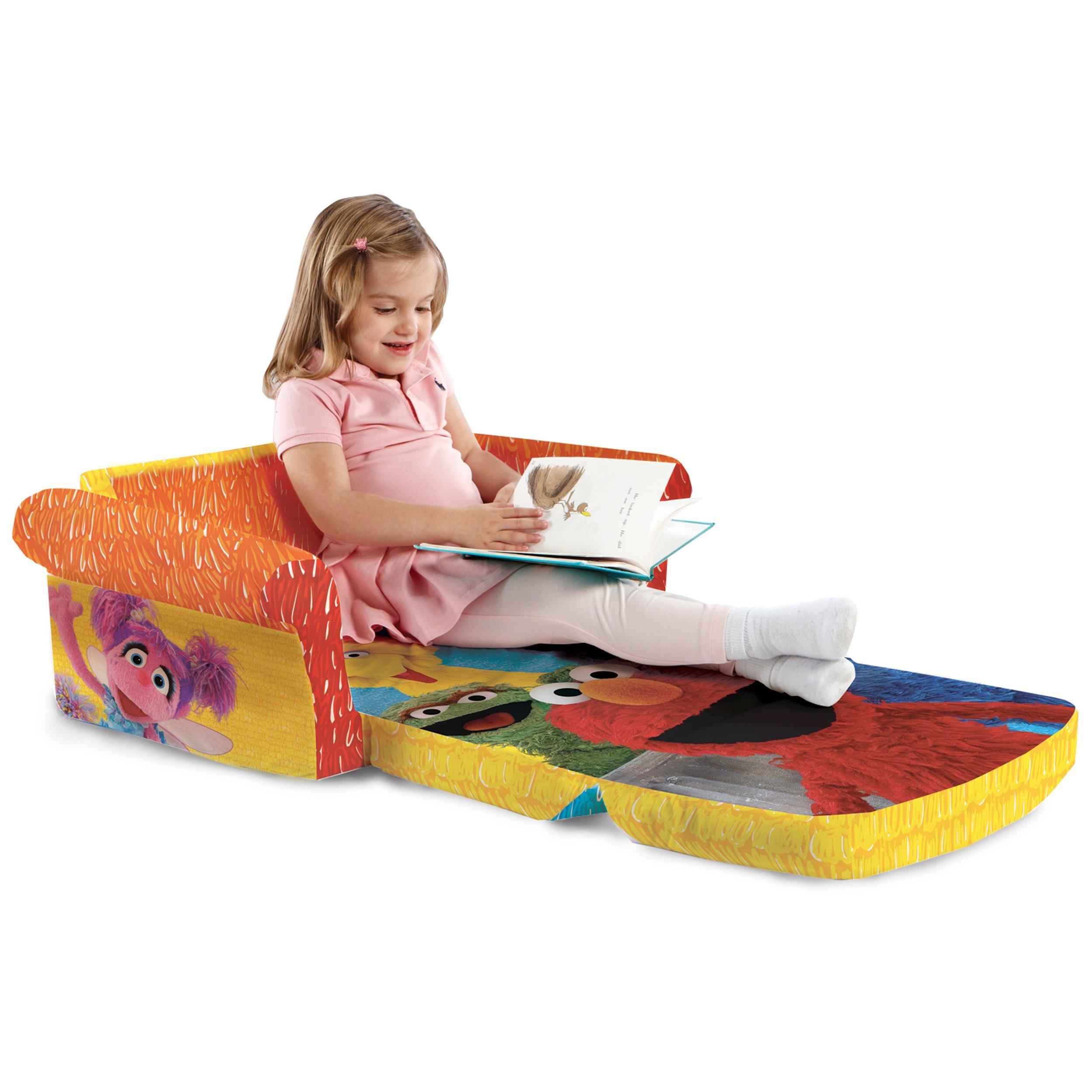 Marshmallow Furniture, Children's 2 in 1 Flip Open Foam Sofa, Sesame Street's Elmo/Sesame, by Spin Master by Marshmallow Furniture (Image #7)