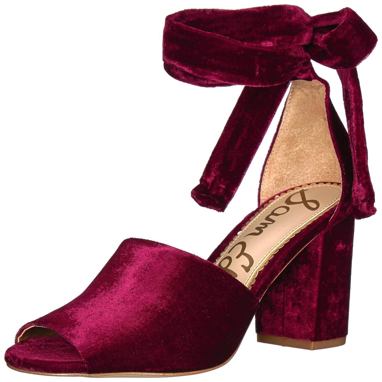 Sam Edelman Women's Odele Heeled Sandal B06XC9ZB6W 5 M US Cranberry Velvet