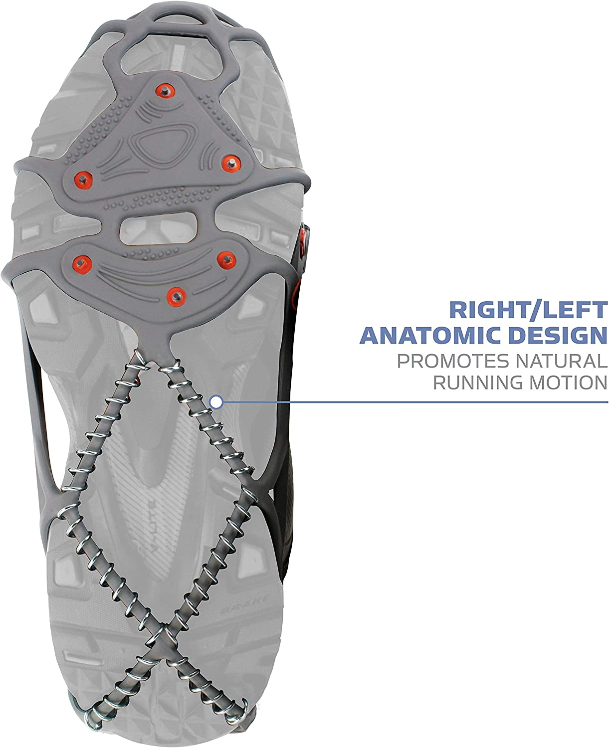 Yaktrax Run Traction Cleats for Running on Snow and Ice Renewed 1 Pair