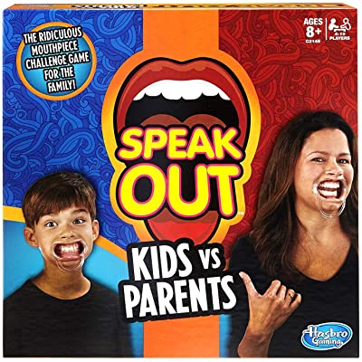 Hasbro Speak Out Kids Vs Parents Game: Toys & Games