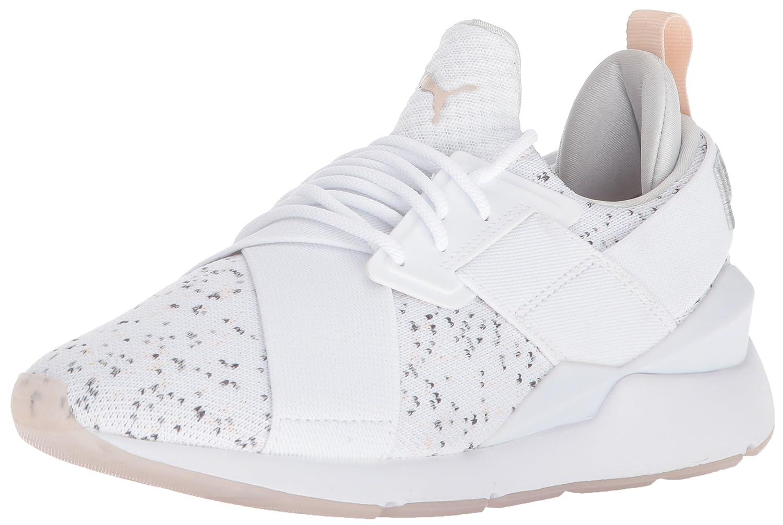 PUMA Women's Muse Solstice Wn Sneaker B074PW97HL 8 B(M) US|Puma White-pearl-gray Violet