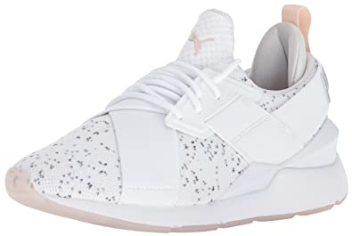 03b465633d1c PUMA Women s Muse Solstice Wn Sneaker White-Pearl-Gray Violet