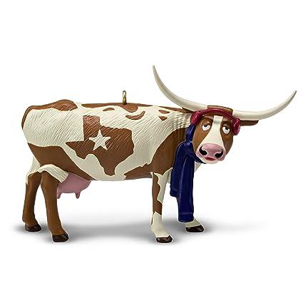 hallmark keepsake christmas ornament 2018 year dated texas pride longhorn