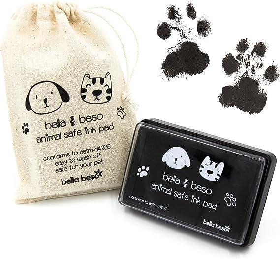 Kit de impresión de huellas de gato y perro, tinta segura para mascotas, bolsa con cordón: Amazon.es: Productos para mascotas