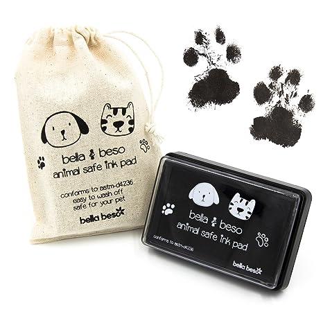 Kit de impresión de huellas de gato y perro – Tinta segura para mascotas con bolsa