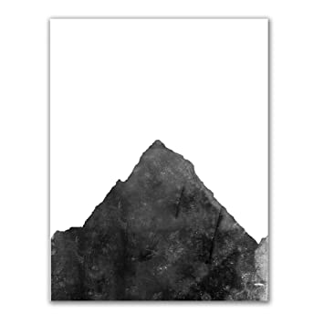 Jetty home black and white mountain art print 8 x 10