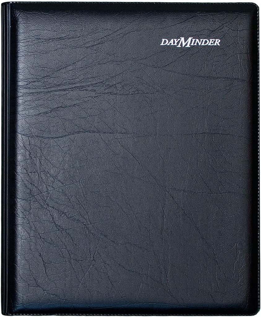 DayMinder G54500 Executive Weekly/Monthly Planner, 6 7/8 x 8 3/4, Black, 2016