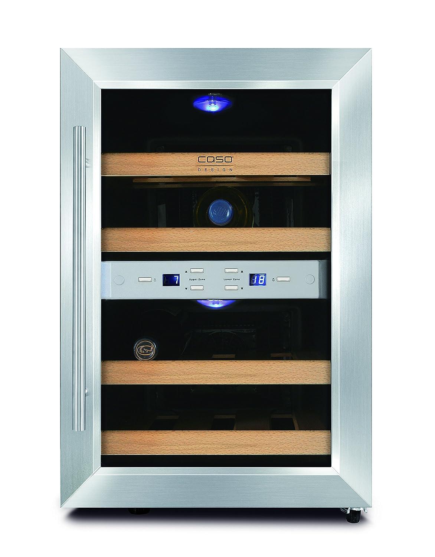 Caso Wine Duett 12 - wine coolers (freestanding, Black, 7 - 18 °C ...