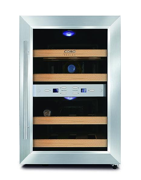 Caso Wine Duett 12 - wine coolers (freestanding, Black, 7 - 18 °C, 7 ...