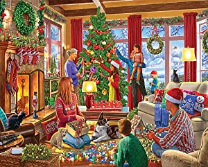 White Mountain Decorating The Tree - 1000 Piece Jigsaw Puzzle