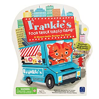 Educational Insights Frankie's Food Truck Fiasco Game, Shape Matching Preschool Game, Ages 4+