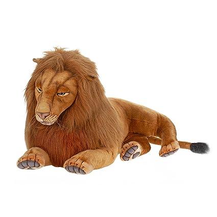 Amazon Com Hansa Plush 70 Extra Large Laying Male Lion Toys Games