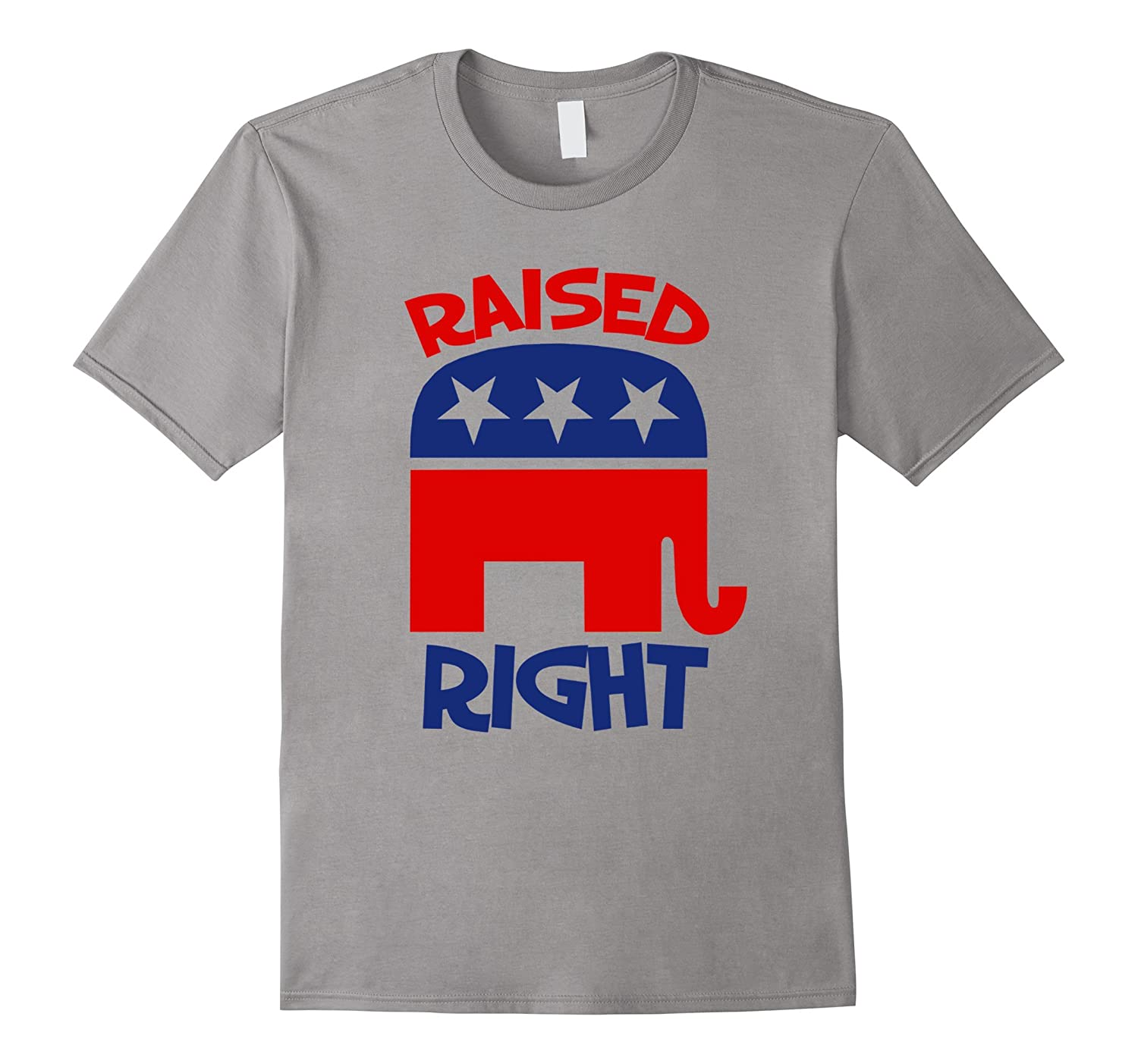 Raised right GOP elephant logo shirt Republican kids tee-CD