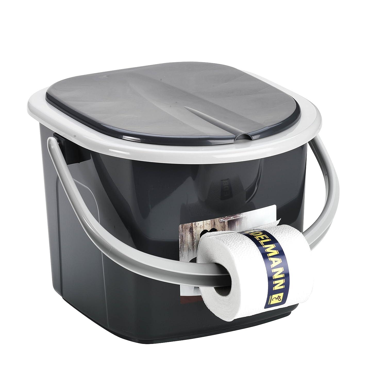 BranQ inodoro 15,5 litros Camping inodoro cubo de WC exterior viaje, negro