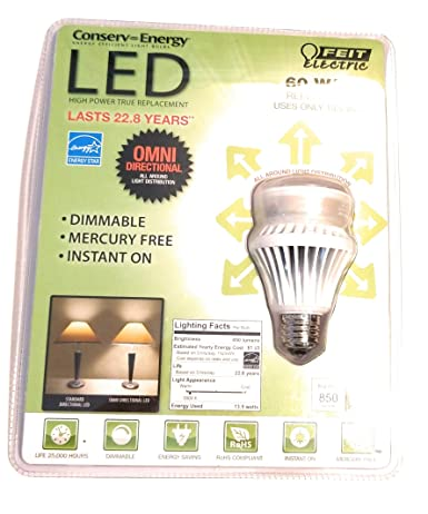 Eléctrico Feit A19/DM/800/tubo LED de intensidad regulable bombilla