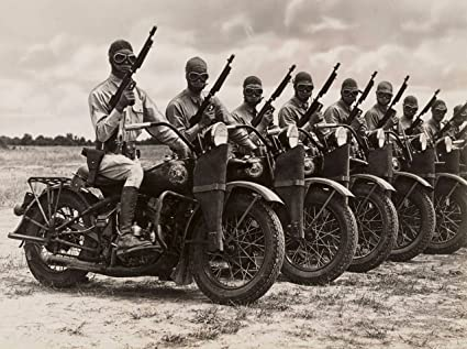 5122f54b Harley Davidson WWII Motorcycle Army Security Poster Art Photo U.S. Military  Posters Artwork 11x14