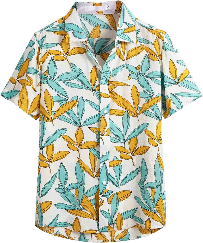 Viahwyt Camisa Hawaiana para Hombre, Informal, 3D, Manga Corta, Playera de Verano, Blusa con Botones en el Pecho, Tallas S-XXL Blanco Blanco 27-32: Amazon.es: Ropa y accesorios