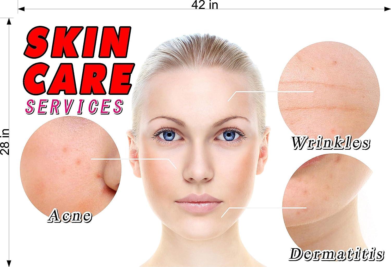 NAILSIGNS.com Skin Care X Service Salon Mesh Decor See-Through Window Film Paper Wallpaper Poster Transparent Horizontal , 66 LINE Pattern WGLV Transparent Window Vinyl Sign Outdoors