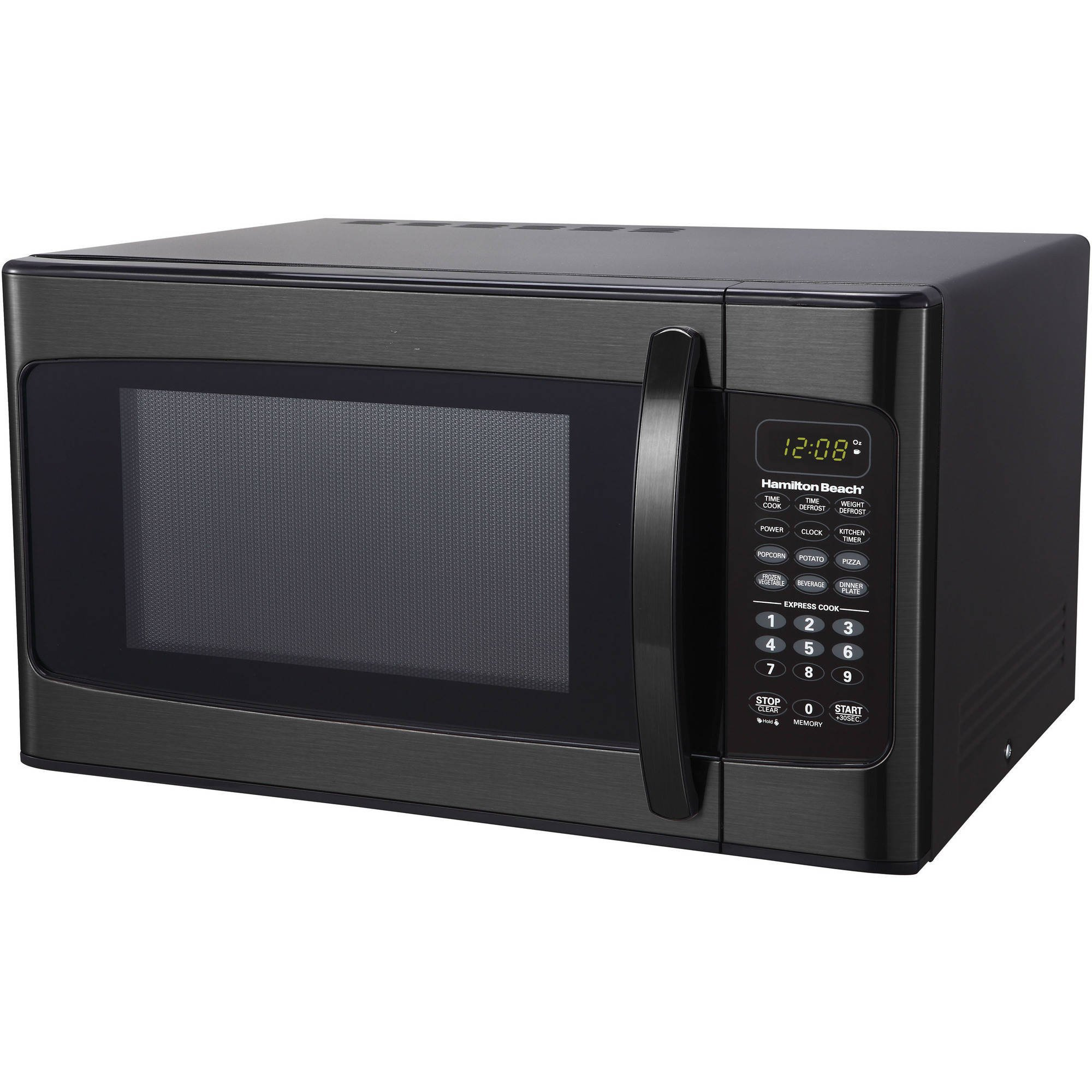 Hamilton Beach 1.1 cu ft Microwave Oven, Black Stainless Steel