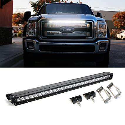 Amazon ijdmtoy grille mounted 30 150w led light bar for 2011 ijdmtoy grille mounted 30quot 150w led light bar for 2011 2016 ford f aloadofball Image collections