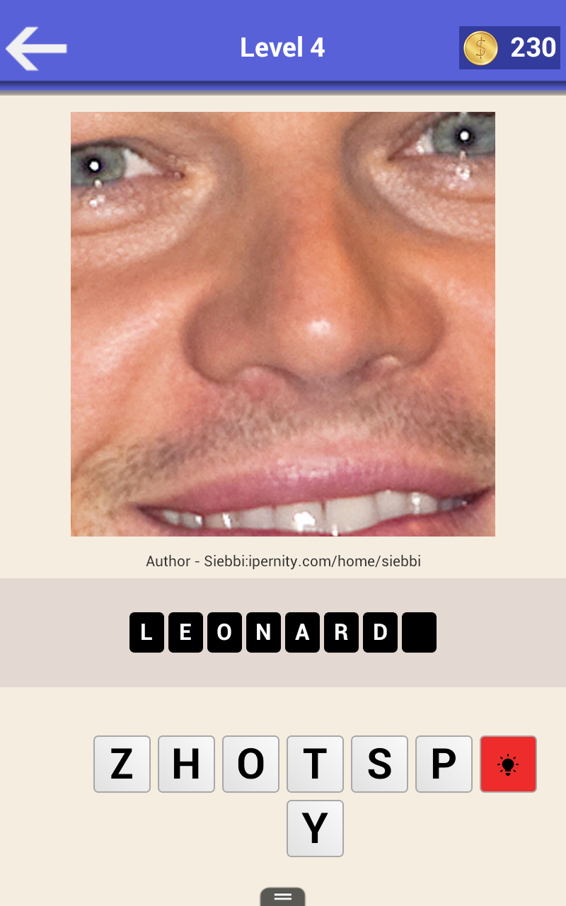 Who am I? Guess the Close Up Celebrity Quiz - Picture Puzzle Game