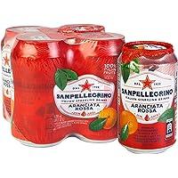 San Pellegrino Aranciata Rossa Can, 330ml (Pack of 4)