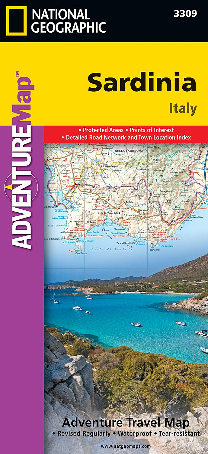 Sardinia Italy National Geographic Adventure Map National