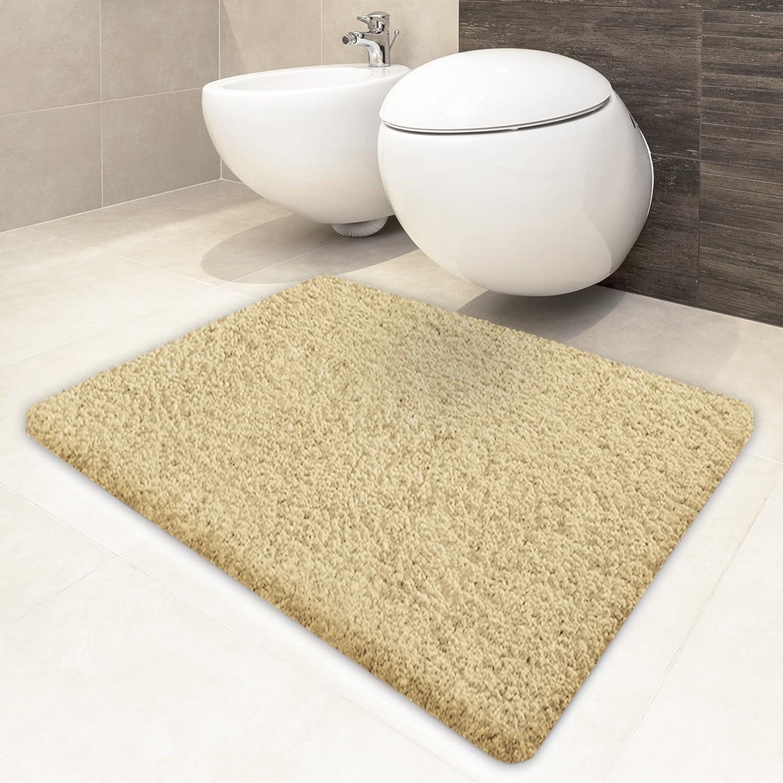 Tapis Salle De Bain Kaki ~ casa pura tapis de bain beige oeko tex lavable poil tr s doux