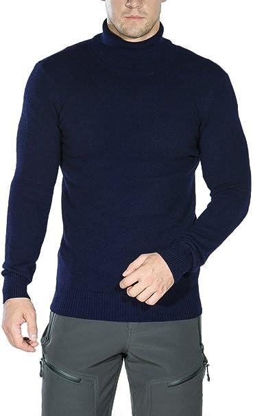 Pretty Green Sweatshirt Mens Designer Knitted Wool Slim Fit Jumper Blue NEW