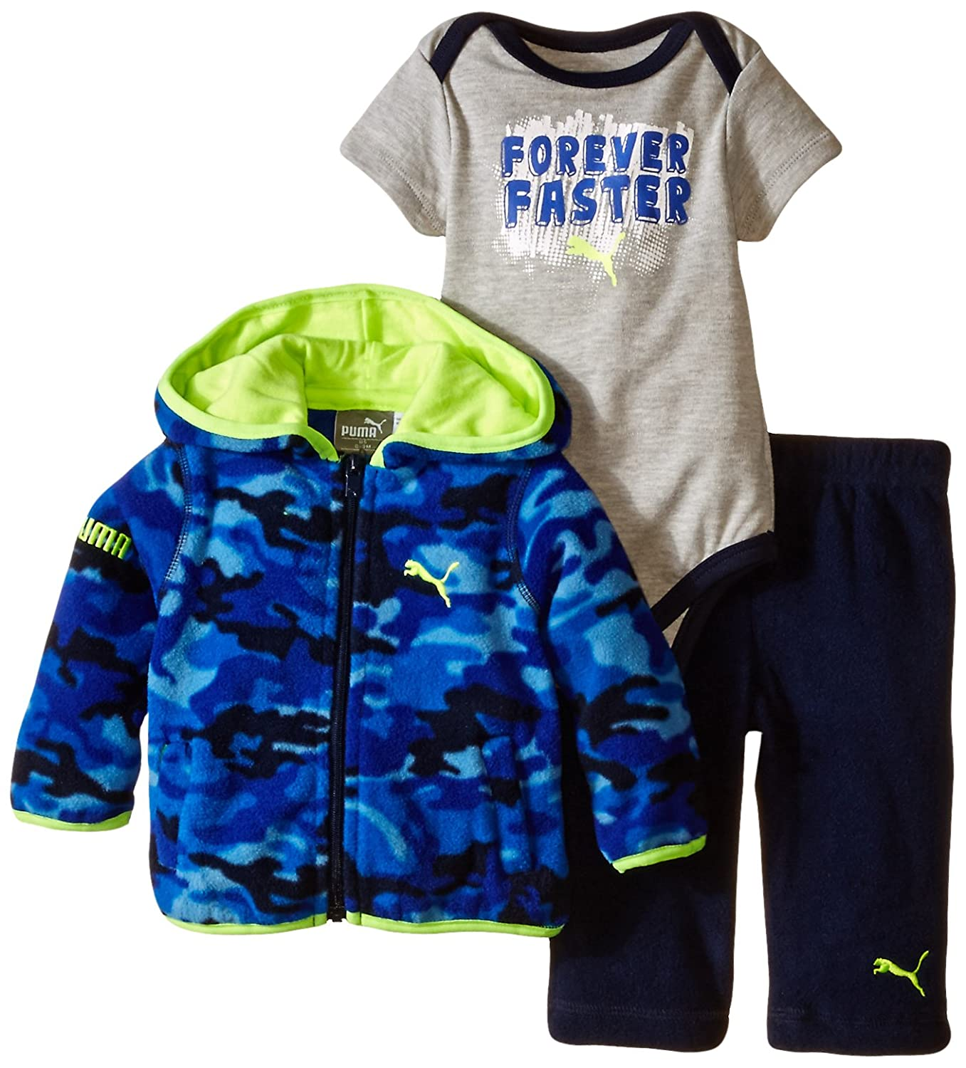 38fc5ff3 Amazon.com: PUMA Baby Boys' Jogger Full Zip Hoodie with Pant and No ...