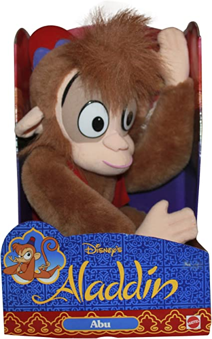 Official Disney Store Aladdin Abu The Monkey Chatterback Talking Soft Plush Toy
