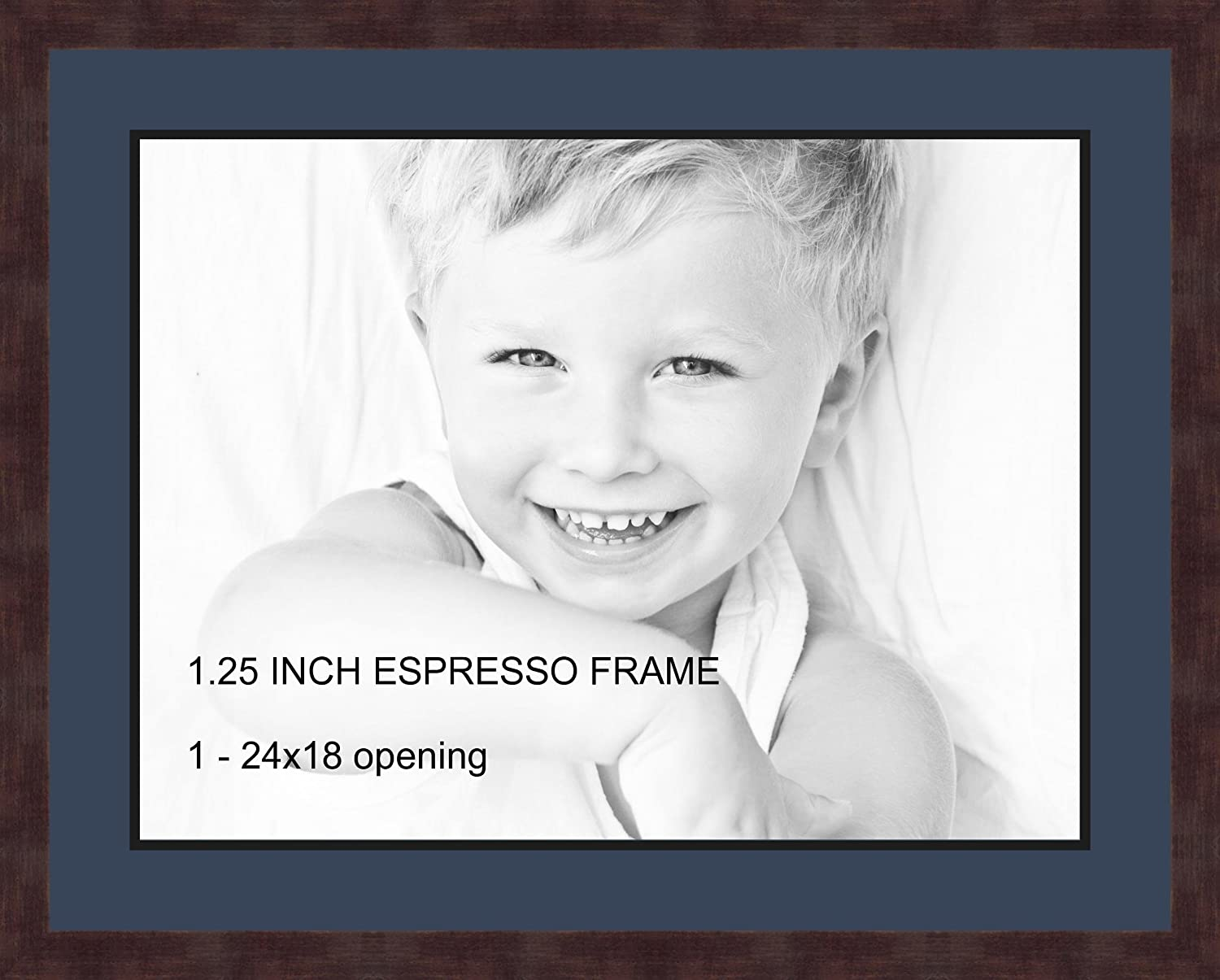 Art to Frames Double-Multimat-728-776//89-FRBW26079 Collage Photo Frame Double Mat with 1-12x16 Openings and Satin Black Frame