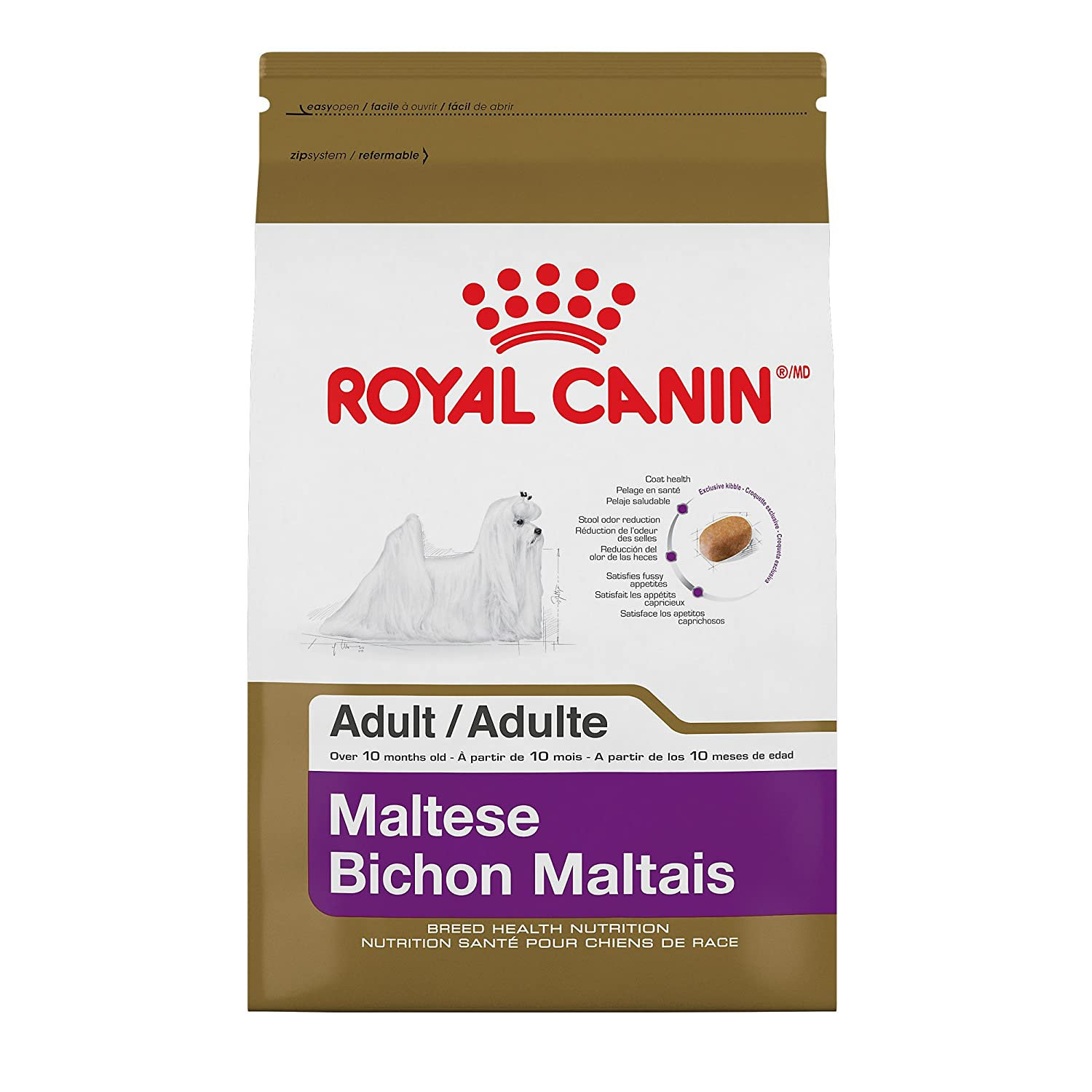 well-wreapped Royal Canin Breed Health Nutrition Maltese Adult Dry Dog Food, 2.5 lb