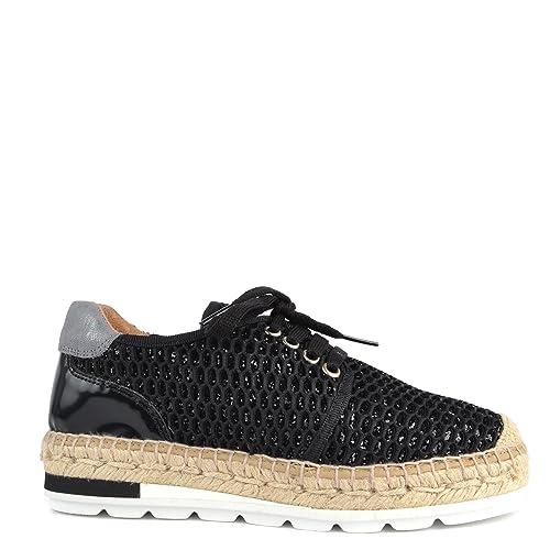 dc1e14c6adf Kanna Zapatos Nimes Espadrilles Negro Mujer 41 Negro  Amazon.es  Zapatos y  complementos