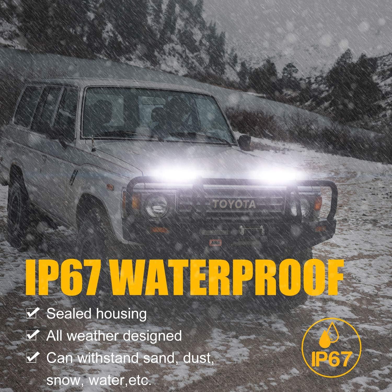 YuanGu 18W LED Work Spot Light Bar Slim 12V 24V Off Road Light Bar Waterproof Spot Beam Car LED Light for Car Truck Boat SUV ATV