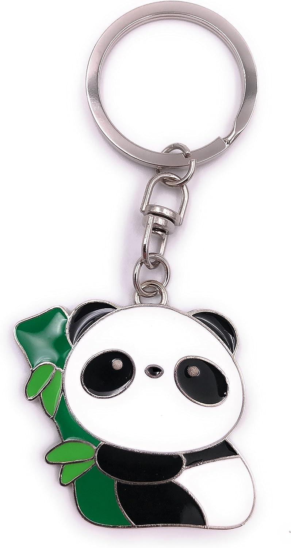Hotaluyt Cadena Llavero Colgante del Bolso de Silicona Animales Llavero de la Panda Linda del Llavero del Bolso de la Panda
